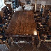 Для дома и интерьера ручной работы. Ярмарка Мастеров - ручная работа Стол в рустикальном стиле из массива сосны. Handmade.