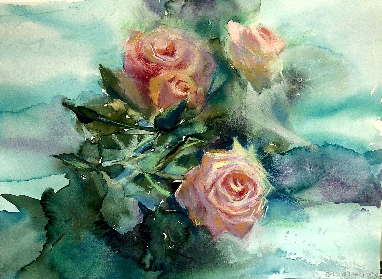 Свежесть утренней розы, Картины, Люберцы,  Фото №1