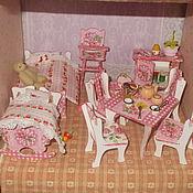 """Куклы и игрушки ручной работы. Ярмарка Мастеров - ручная работа Мебель для кукол,""""Розовые розы"""", декупаж.. Handmade."""