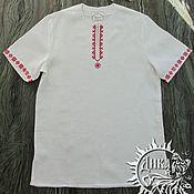 """Рубашки ручной работы. Ярмарка Мастеров - ручная работа Рубашки: Туника """"Добрыня"""" изо льна. Handmade."""