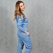 Одежда handmade. Livemaster - original item Suit women sport blue. Handmade.