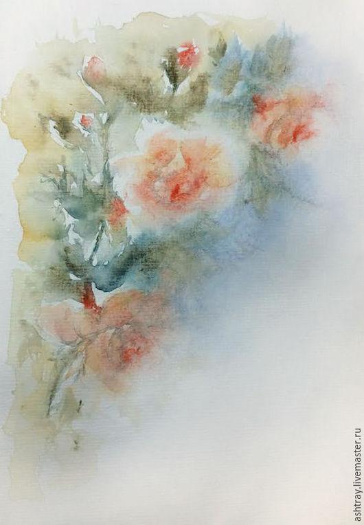 Картины цветов ручной работы. Ярмарка Мастеров - ручная работа. Купить Нежность в цветах. Handmade. Розовый, розовый цветок, акварель
