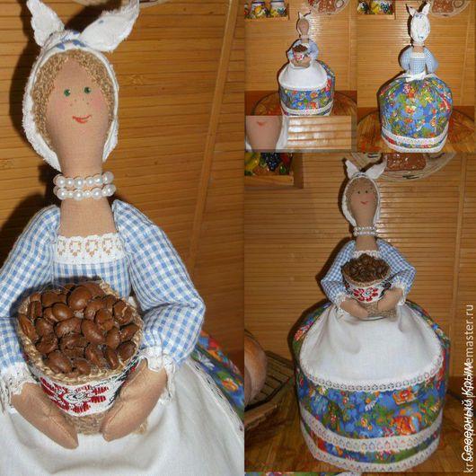 Кухня ручной работы. Ярмарка Мастеров - ручная работа. Купить Текстильная кукла-грелка на чайник. Handmade. Разноцветный