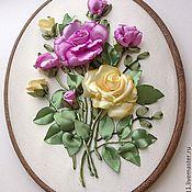 """Картины и панно ручной работы. Ярмарка Мастеров - ручная работа Вышитая картина """"Розы"""". Handmade."""
