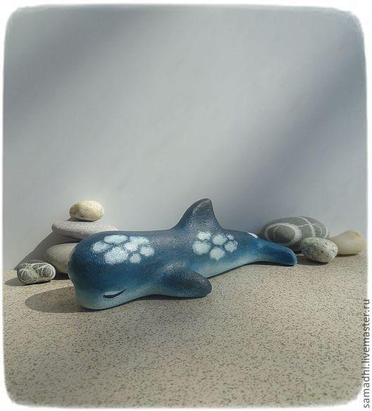 Игрушки животные, ручной работы. Ярмарка Мастеров - ручная работа. Купить Облачный дельфинчик. Handmade. Синий, дельфин, акриловые краски