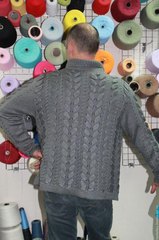 Пиджаки, жакеты ручной работы. Ярмарка Мастеров - ручная работа. Купить Пиджак мужской вязаный №38 из 30% мохера. Handmade.