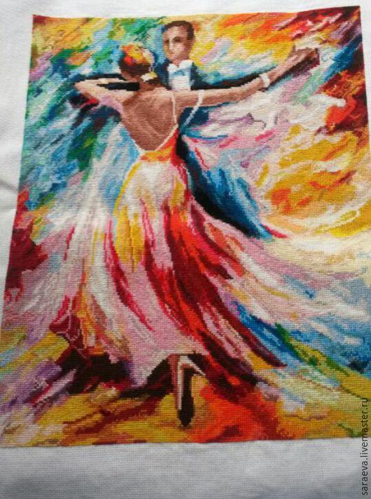 Люди, ручной работы. Ярмарка Мастеров - ручная работа. Купить Вышивка Танец любви. Handmade. Комбинированный, пара, подарок девушке