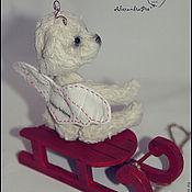 Куклы и игрушки ручной работы. Ярмарка Мастеров - ручная работа Ангелочек. мини-мишка. Handmade.