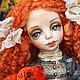 Коллекционные куклы ручной работы. Ярмарка Мастеров - ручная работа. Купить Рыжее счастье))). Handmade. Рыжий, рыжая кукла, кружево