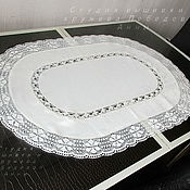 Для дома и интерьера handmade. Livemaster - original item large oval doily. Handmade.