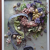 Картины и панно ручной работы. Ярмарка Мастеров - ручная работа Жемчужно-цветочное безумство. Handmade.