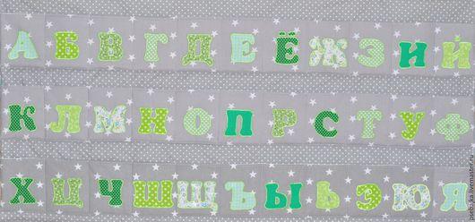 """Детская ручной работы. Ярмарка Мастеров - ручная работа. Купить Панно с кармашками """"Алфавит"""". Handmade. Панно, кармашки в детскую"""