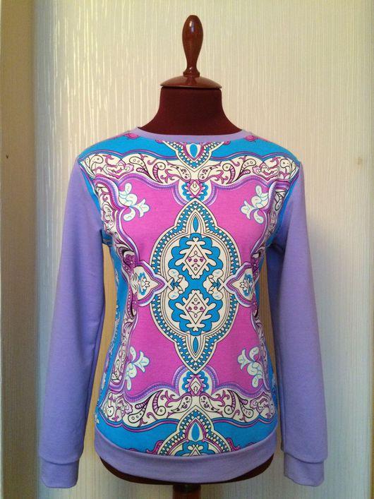 Кофты и свитера ручной работы. Ярмарка Мастеров - ручная работа. Купить Свитшот продан,остался один купон для пошива по вашему размеру. Handmade.