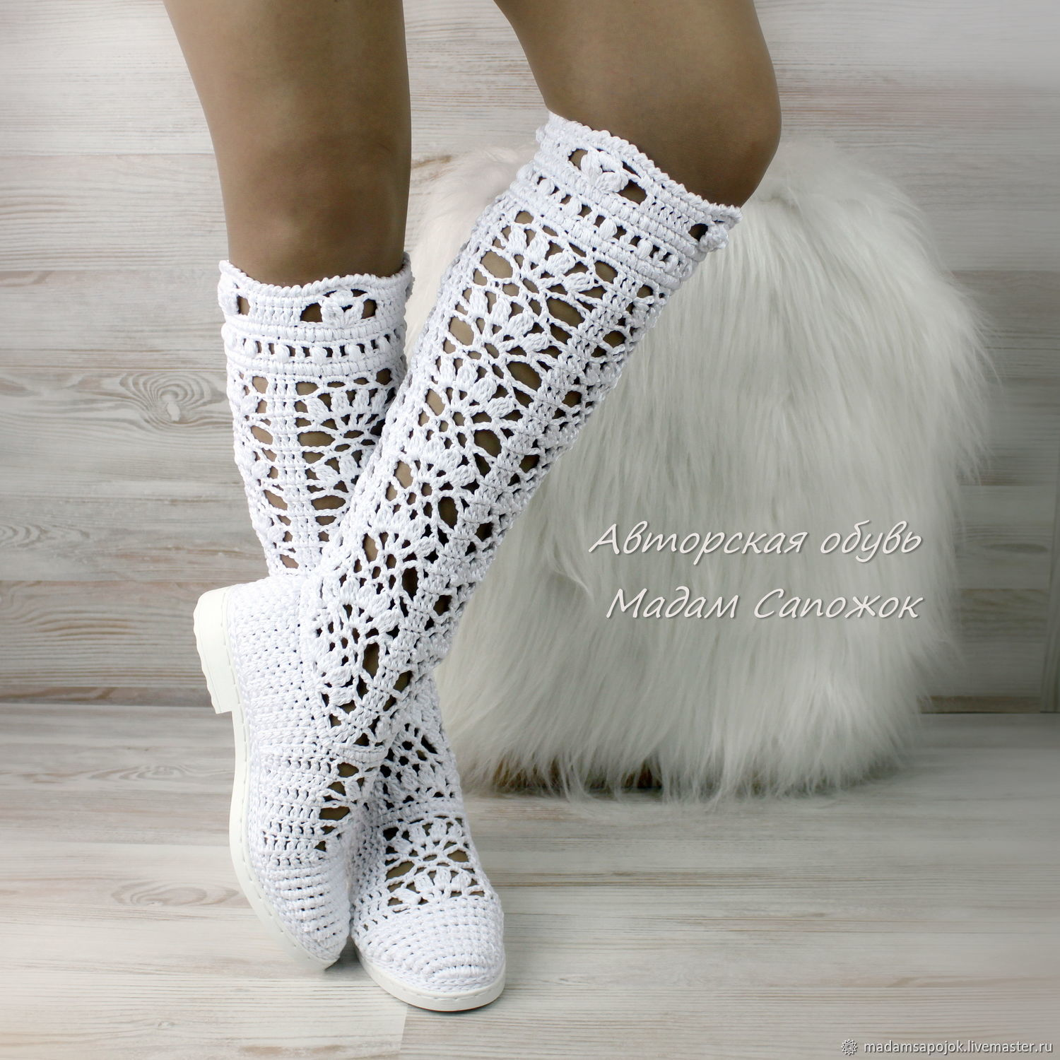 c0157ab724 My Handmade Shoes handmade. Boots-old 'First love' knitted. MadameBoots. My