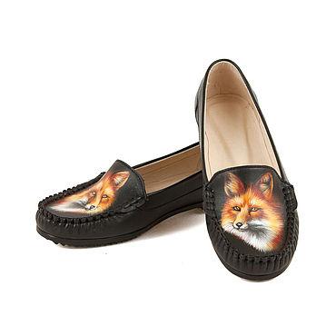 """Обувь ручной работы. Ярмарка Мастеров - ручная работа Мокасины """"Лисица"""". Handmade."""