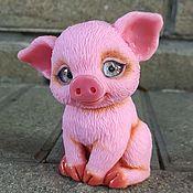 """Материалы для творчества handmade. Livemaster - original item Авторская 3D Силиконовая форма для мыла """"Малышка-свинка"""". Handmade."""