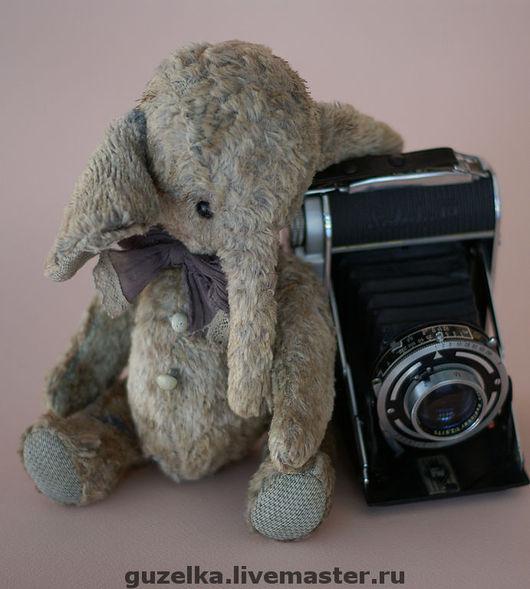 """Мишки Тедди ручной работы. Ярмарка Мастеров - ручная работа. Купить Винтажный слоник """"Тодд"""". Handmade. Слоник, слоник тедди"""