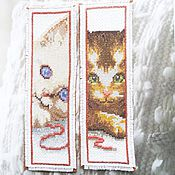 Канцелярские товары ручной работы. Ярмарка Мастеров - ручная работа Глаза котенка Закладка для книг с милыми котиками в подарок ребенку. Handmade.