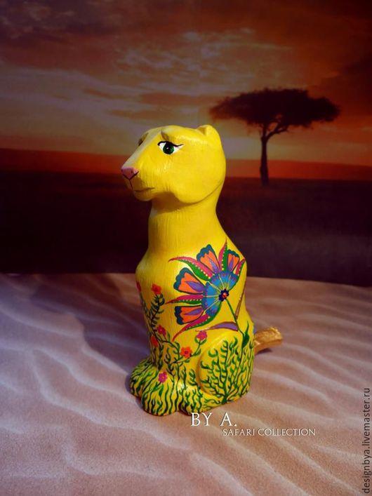 Статуэтки ручной работы. Ярмарка Мастеров - ручная работа. Купить Статуэтка фигурка леопард цветочный принт сафари. Handmade.