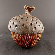 Sugar Bowls handmade. Livemaster - original item Ceramic jar Acorn. ceramic handmade. Handmade.