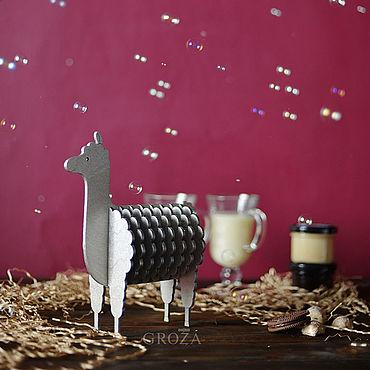 Для дома и интерьера ручной работы. Ярмарка Мастеров - ручная работа Подставки: Для кружек Лама. Handmade.