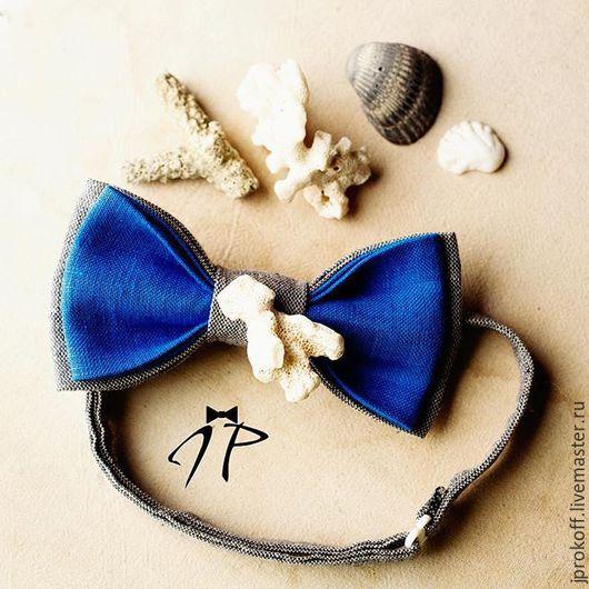 """Галстуки, бабочки ручной работы. Ярмарка Мастеров - ручная работа. Купить Галстук-бабочка """"Настроение океана"""". Handmade. Комбинированный, коралл"""