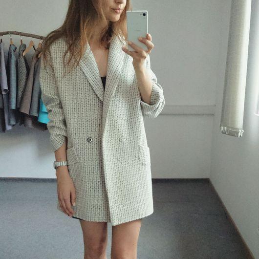 Пиджаки, жакеты ручной работы. Ярмарка Мастеров - ручная работа. Купить Пиджак из хлопка светлый. Handmade. Бежевый, женский пиджак