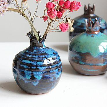 Для дома и интерьера. Ярмарка Мастеров - ручная работа Гранаты-вазочки. Handmade.