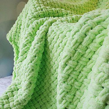 Текстиль ручной работы. Ярмарка Мастеров - ручная работа Плюшевый плед (цвет и размер на Ваш выбор). Handmade.