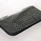 Сумки и аксессуары handmade. Livemaster - original item Purse made of leather with CROC-embossed. Handmade.
