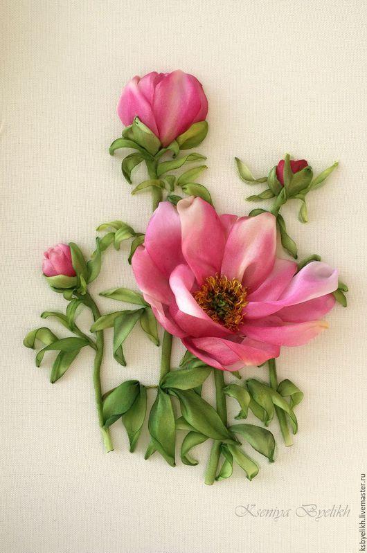 Картины цветов ручной работы. Ярмарка Мастеров - ручная работа. Купить Пионы. Handmade. Комбинированный, пионы, пионы розовые