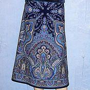 Одежда handmade. Livemaster - original item MIDI skirt from pavlovoposadskaja shawl