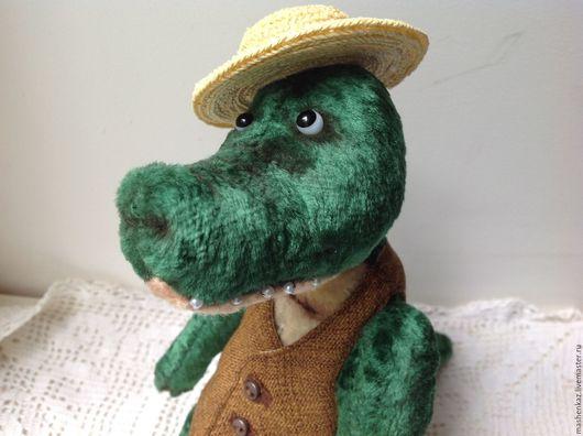 Мишки Тедди ручной работы. Ярмарка Мастеров - ручная работа. Купить Крокодил Гера. Handmade. Зеленый, шплинтовое соединение
