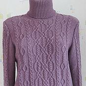 Одежда ручной работы. Ярмарка Мастеров - ручная работа Мериносовый свитер с аранами. Handmade.