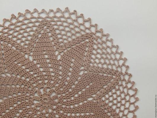Текстиль, ковры ручной работы. Ярмарка Мастеров - ручная работа. Купить Салфетка вязаная крючком. Handmade. Бежевый, салфетки