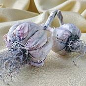 Для дома и интерьера handmade. Livemaster - original item Flowers made of silk Garlic made of fabric interior elements. Handmade.