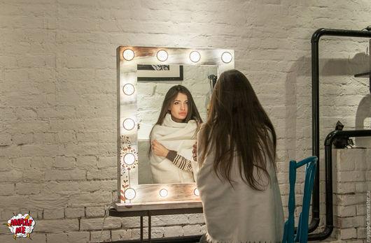 """Зеркала ручной работы. Ярмарка Мастеров - ручная работа. Купить Гримерное зеркало """"Scandinavian dreams"""". Handmade. Комбинированный, интерьер"""