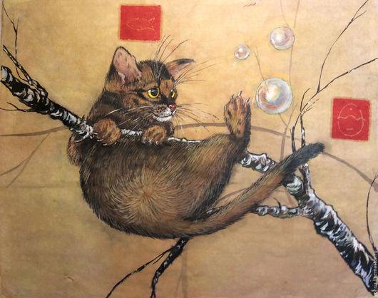 """Животные ручной работы. Ярмарка Мастеров - ручная работа. Купить """"Золотой котенок"""" курс """"Кошка"""" стиль гунби. Handmade."""