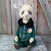 Куклы и игрушки ручной работы. Ярмарка Мастеров - ручная работа Нюша. Зайка тедди мишки тедди  винтаж и их друзья. Handmade.