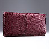 Сумки и аксессуары handmade. Livemaster - original item Women`s python leather wallet with a coin holder IMP0059S. Handmade.