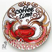Посуда handmade. Livemaster - original item Decorative plate with coffee