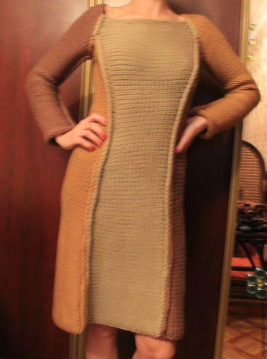 """Платья ручной работы. Ярмарка Мастеров - ручная работа. Купить Платье """"Трио"""". Handmade. Платье, платье спицами, шерсть с акрилом"""
