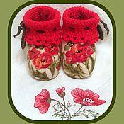 """Обувь ручной работы. Ярмарка Мастеров - ручная работа Пинетки """"Песня сердца"""". Handmade."""