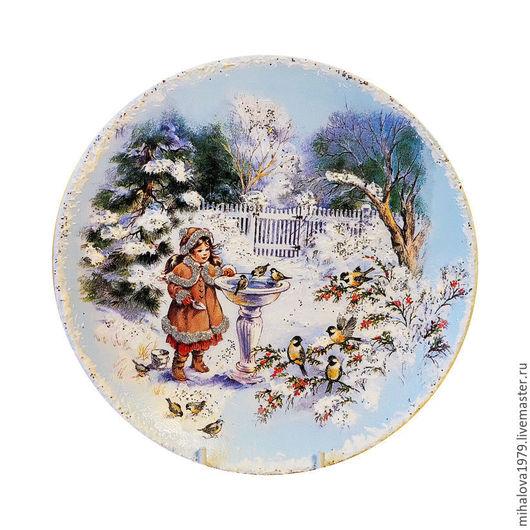 Тарелки ручной работы. Ярмарка Мастеров - ручная работа. Купить Декоративная тарелка «Зимняя сказка». Handmade. Тарелка, тарелка сувенирная