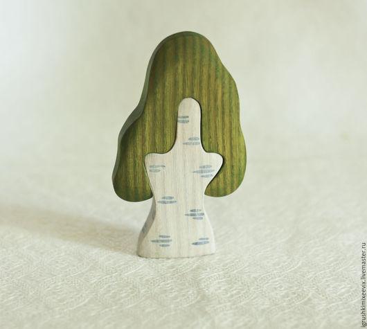 Развивающие игрушки ручной работы. Ярмарка Мастеров - ручная работа. Купить Дерево Берёзка. Развивающая игрушка. Пазл.. Handmade. Березка