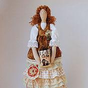 Кофейная фея текстильная кукла в стиле Тильда