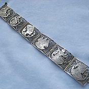 """Винтаж ручной работы. Ярмарка Мастеров - ручная работа Старинный серебряный браслет """"Египетский"""". Handmade."""