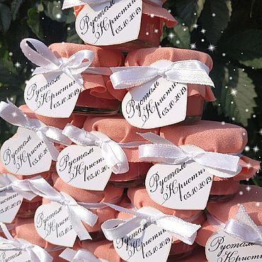 Свадебный салон ручной работы. Ярмарка Мастеров - ручная работа Бонбоньерки персиковые. Handmade.