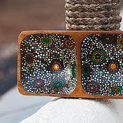 """Посуда ручной работы. Ярмарка Мастеров - ручная работа Деревянная чаша """"Dots"""". Handmade."""