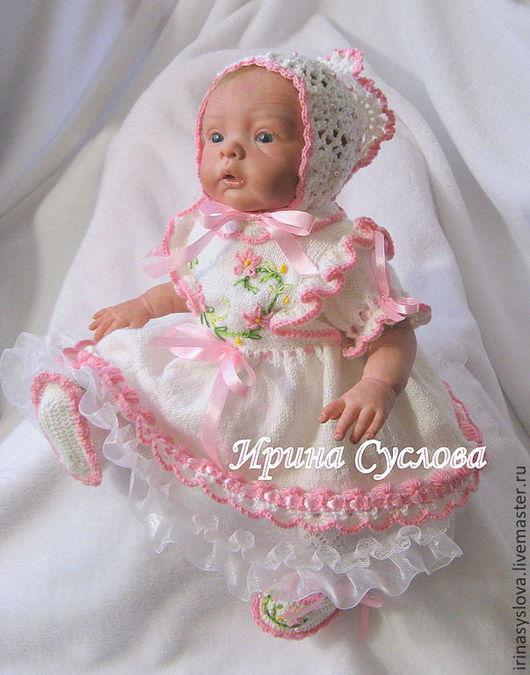Одежда для кукол ручной работы. Ярмарка Мастеров - ручная работа. Купить Комплект Розочка. Handmade. Вязание крючком, вязание для новорожденных